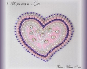 All you Need is Love! Embroidery Heart Decorative Wall Hanging