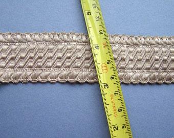Antique Vintage Silver Metallic Vestment Braid - Trim - 1 yard