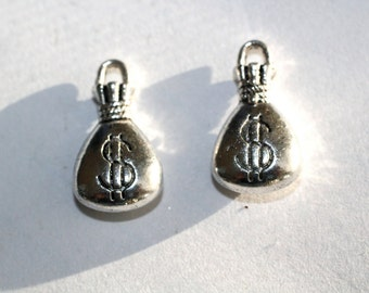 5pc Silver Money Bag Charms bracelet charms/ necklace charms