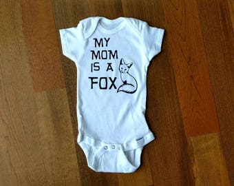 My mom is a fox onesie.