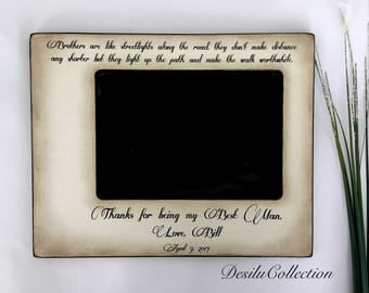 Best Man, Brothers, wedding, Rustic Picture Frame, Best Man Gifts, 4x6 Thank you Parent Photo Frame - Personalized Gift - Keepsake 5x7