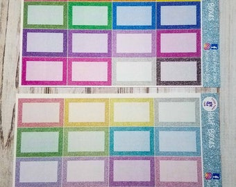 Faux glitter half boxes for the Erin condren vertical life planner