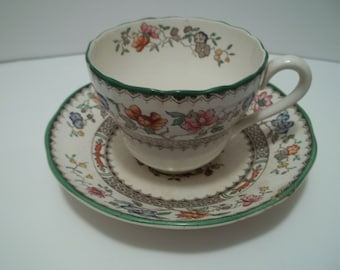 Spode Copeland Chinese Rose Cup and Saucer