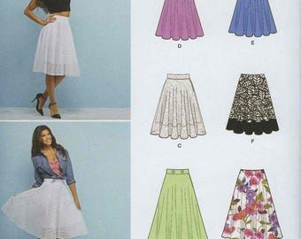 Simplicity 1200 Easy to Sew Skirt Pattern Size 6-14