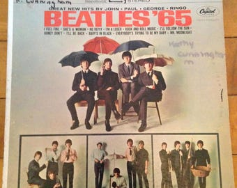 Vintage Beatles '65 Vinyl Album