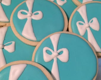 12 Tiffany inspired cookies