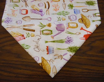 Spring Garden Tools Flowers Table Runner - Table Scarf - Table Decor - Spring  Home Decor