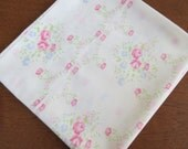 """Vintage Pillowcase - Pink and Blue Tiny Floral - 39"""" x 21"""" King Size"""
