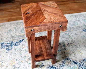 Side Table, Wood Side Table, End Table, Wood End Table, Small Table, Reclaimed Wood, Pallet Table, Pallet End Table, Pallet Nightstand