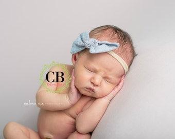 Nylon Headband. Baby Nylon Headband. Baby girl headband. Newborn Headband. Newborn Nylon Headband. Nylon Bow. Baby Bow. Baby Headband.