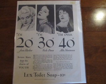 Lux Soap Ad - 1932