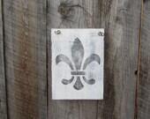 Fleur de lis Sign, Rustic Home Decor, New Orleans Decor, Shabby Frech Sign, French Quarter Decor, Creole Cajun, French Chic Cottage, Paris