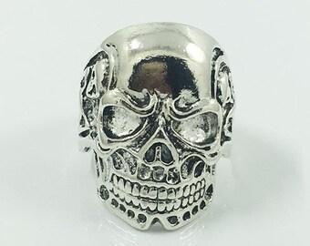 Gothic skull ring, stainless steel