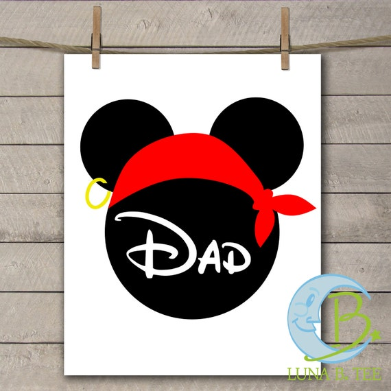 INSTANT DOWNLOAD Disney Family Vacation Cruise Pirate Night Dad Shirts Printable DIY Iron On to Tee T-Shirt Transfer - Digital File