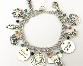 The Lion King inspired  charm bracelet