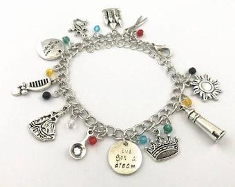 Tangled inspired charm bracelet rapunzel