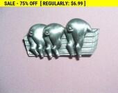 vintage JJ pig pin brooch, vintage pin brooch