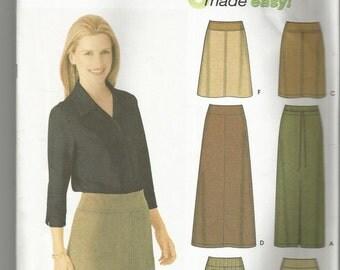 Simplicity 9825 size uncut 6 - 12 long or short womans skirt