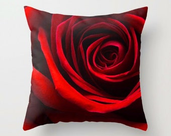 Simply A Red Rose, Decorative Throw Pillow, Art Throw Pillow, Floral Pillow, Outdoor Pillows, Throw Pillow, Flower Photography