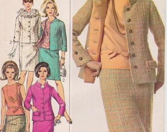 "FF 1960s Size 20 Two Piece Suit & Blouse Vintage Sewing Pattern [Simplicity 6958] Bust 40"", UNCUT"