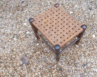 vintage Woven foot rest or stool