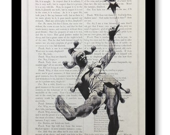 """William Shakespeare play """"As you like it"""", Shakespeare Quote Print, Shakespeare Book Print- Touchstone, Shakespeare Book Page Size 7x10"""