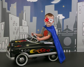 Star kids super hero cape with mask