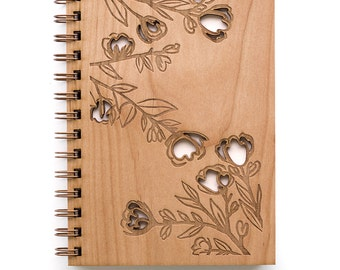 Rose Branches Journal, Wooden Journal