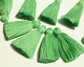 Pistachio Green Indian Cotton Tassels, 2'' Ethnic Tassels, Jewelry Making Supplies, Yoga Mala Tassels (TS10)