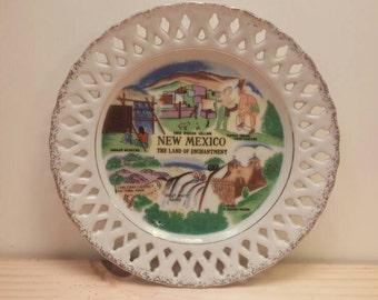 NEW MEXICO Antique SOUVENIR Plate Vintage and Pretty!