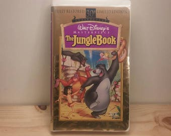 30th Anniversary Clamshell Case VHS Jungle Book Masterpiece Collection Movie Walt Disney Very Collectible!