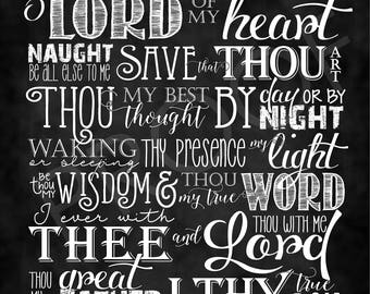 Chalkboard Art ~ Hymn: Be Thou My Vision