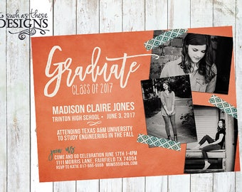 Digital Photo Graduation Announcement...customizable