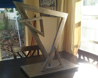 Modern Abstract Sculpture of Triangles