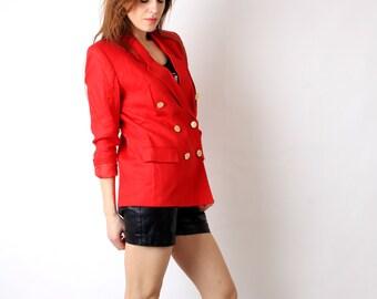 Vintage Valerie Stevens Red Blazer