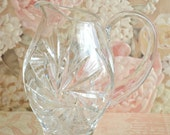 Vintage Small Pinwheel Crystal Pitcher