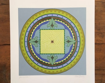 Mandala Art Print 'Journey Home'