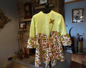 Women's Upcycled Fun and Funky Tunic Top size Small/Medium