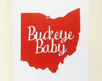 Ohio State Buckeye Baby Card