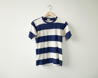 1970's Stripped Sailor Nautical Shirt Extra Small