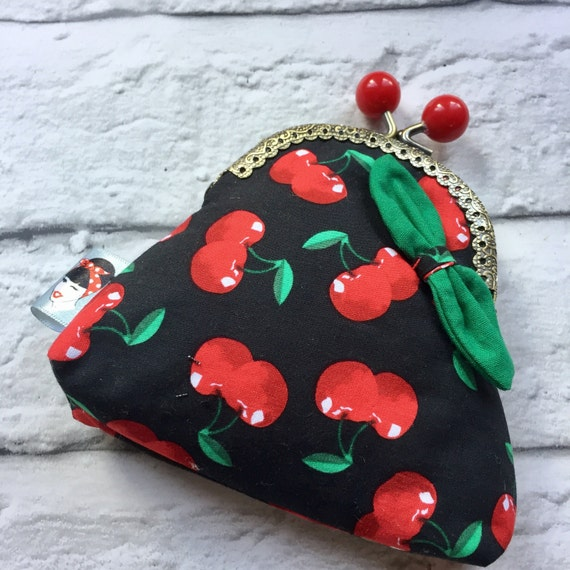 Cherry Coin Purse Rockabilly Pinup