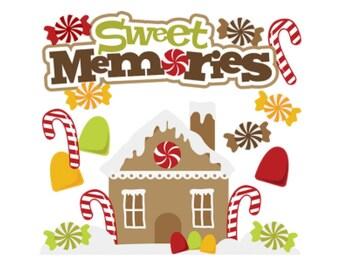 Christmas Die Cuts, Baking Die Cuts, Christmas titles, Scrapbook titles, Christmas scrapbook,Gingerbread, Christmas