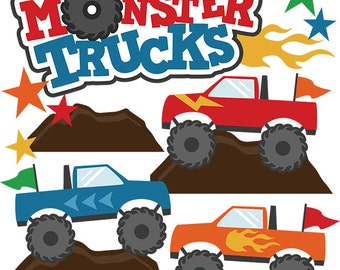 Scrapbook, Scrapbooking, Monster Trucks die cuts, Monster Trucks, Scrapbook embellishment, scrapbook die cut, scrapbook supplies