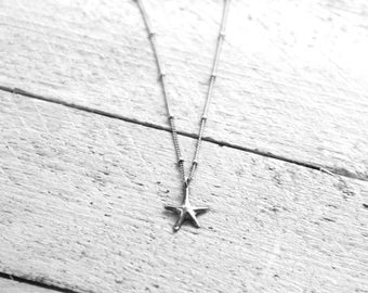 SEASTAR necklace with starfish   silver