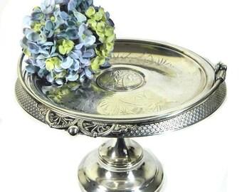 Antique Pairpoint Art Nouveau Silverplate Bride's Basket