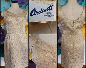 1950s Ardanti Gold Dress (XS/S)
