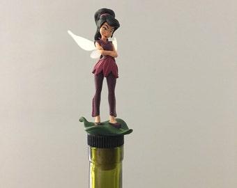 Tinkerbell Fairy Wine Gift, Vidia Fairy, Fairy WIne Stopper, Vidia ,Fairy Wine Gift, Tinkerbell Gift, Fairy Theme, Wine Gifts, Fairy Decor