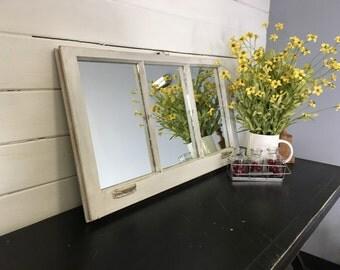White Mirror Window Living Room Wall Decor Distressed