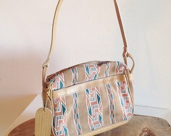 Vintage Southwest Suede Crossbody Bag or Purse Desert Vibes