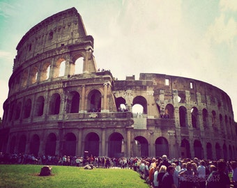 Clearance Sale - Italy photography, Rome photo art, Rome photograph, Colosseum, retro, wall art - When In Rome